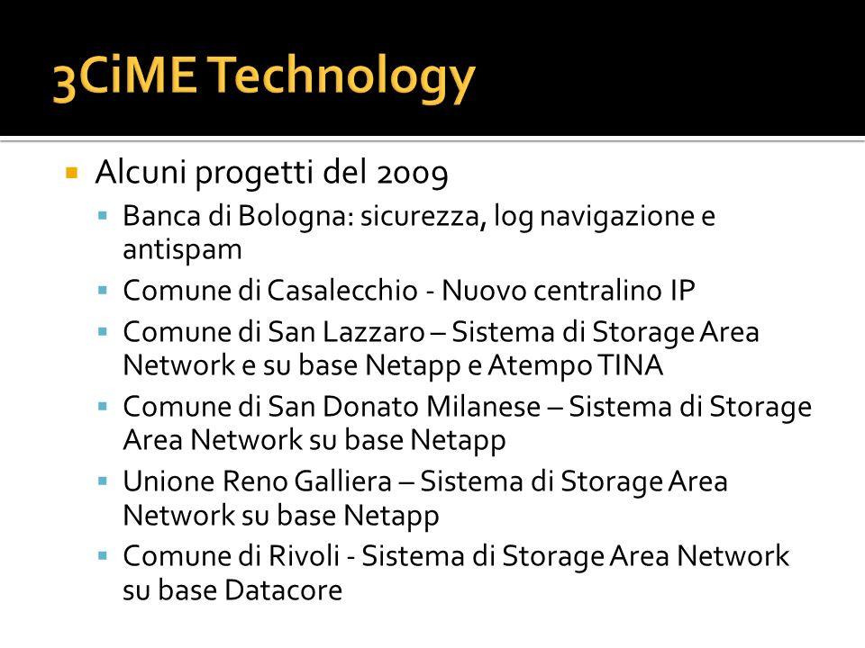 3CiME Technology Alcuni progetti del 2009