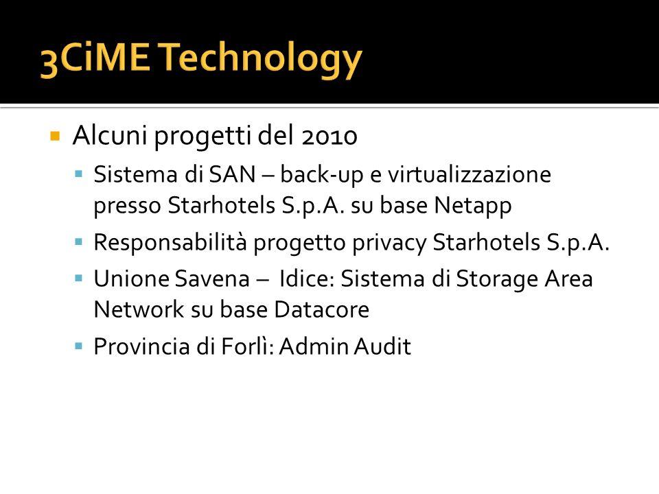 3CiME Technology Alcuni progetti del 2010