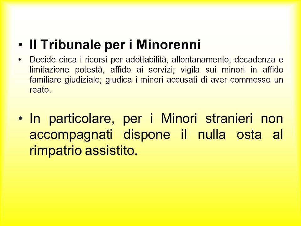 Il Tribunale per i Minorenni