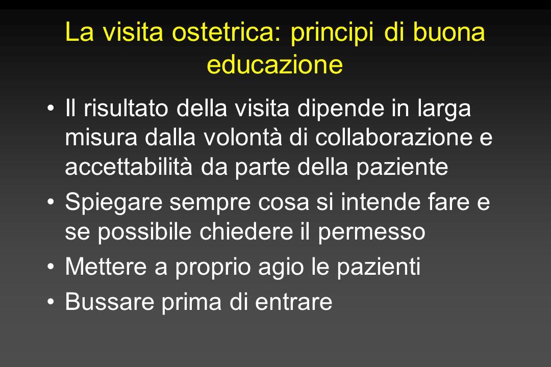 La visita ostetrica: principi di buona educazione
