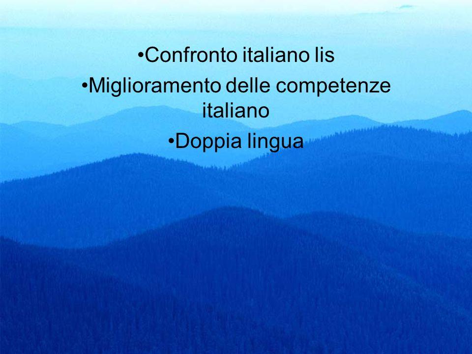 Confronto italiano lis Miglioramento delle competenze italiano