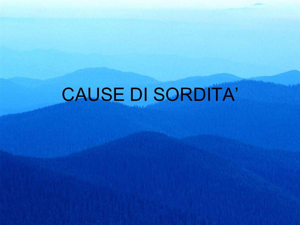 CAUSE DI SORDITA'