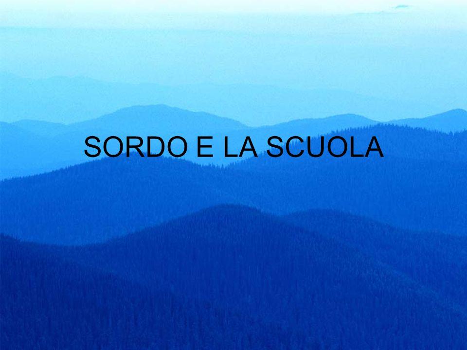 SORDO E LA SCUOLA
