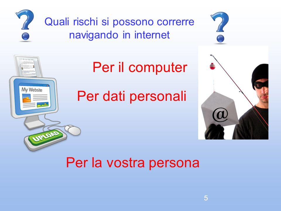 Quali rischi si possono correrre navigando in internet