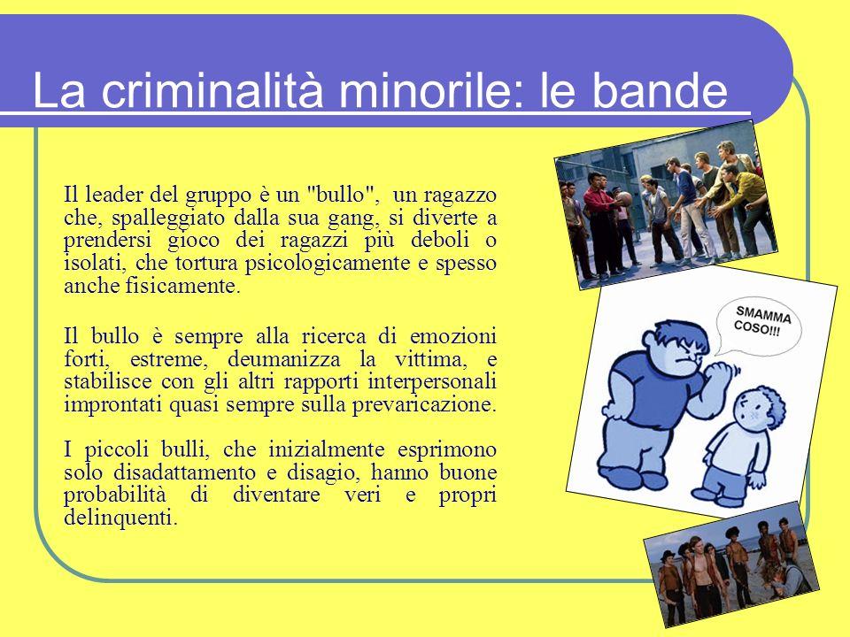 La criminalità minorile: le bande
