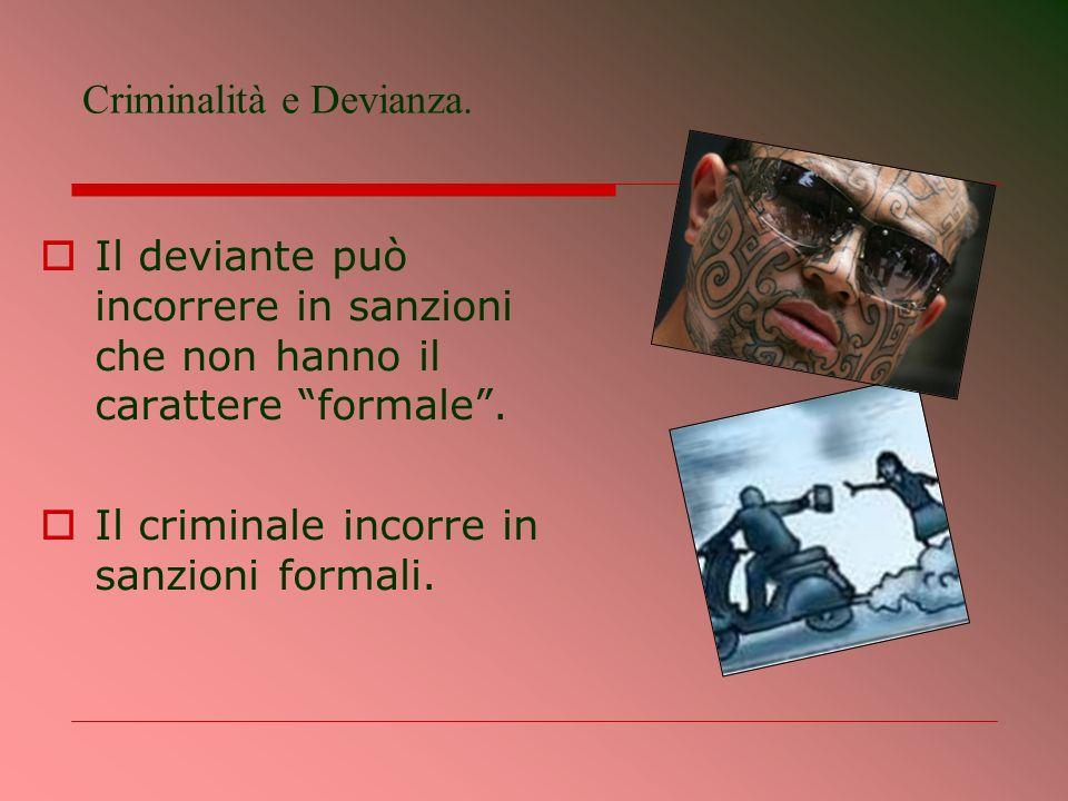 Criminalità e Devianza.