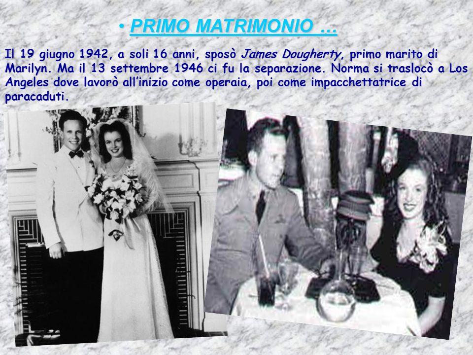 PRIMO MATRIMONIO …