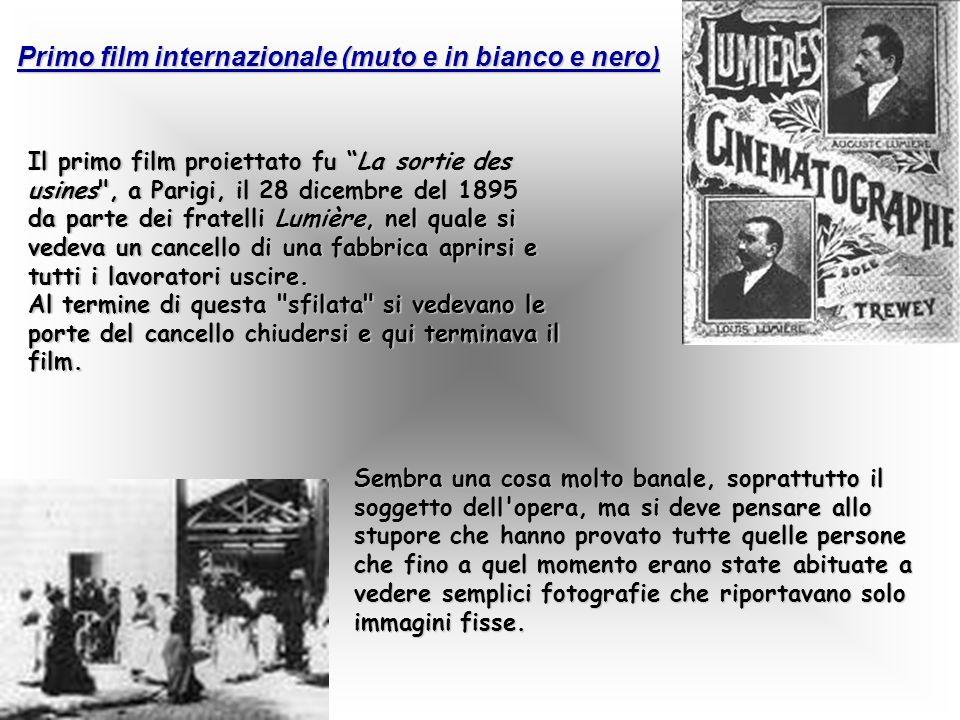 Primo film internazionale (muto e in bianco e nero)