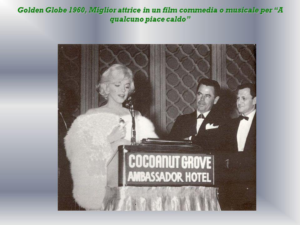 Golden Globe 1960, Miglior attrice in un film commedia o musicale per A qualcuno piace caldo