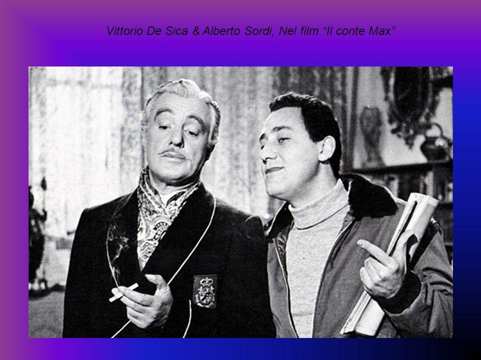 Vittorio De Sica & Alberto Sordi, Nel film Il conte Max