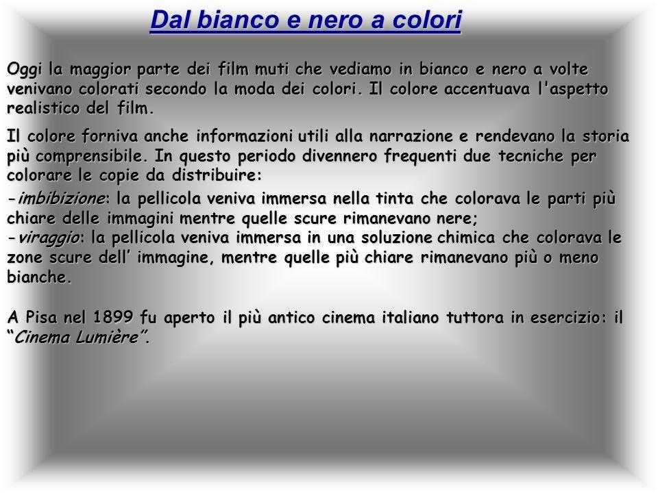 Dal bianco e nero a colori