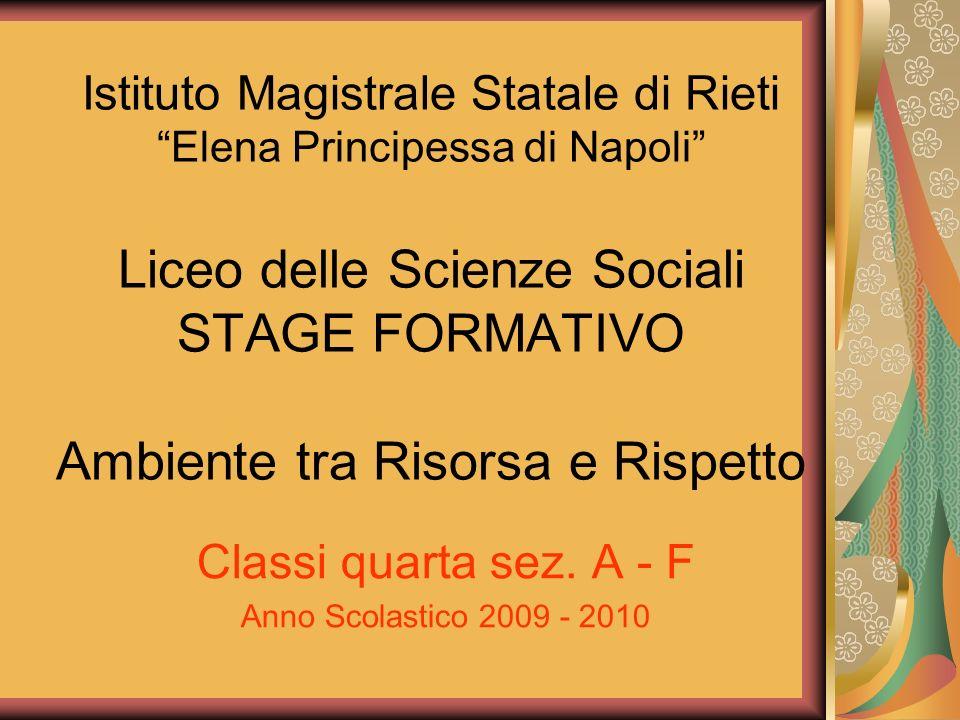 Classi quarta sez. A - F Anno Scolastico 2009 - 2010