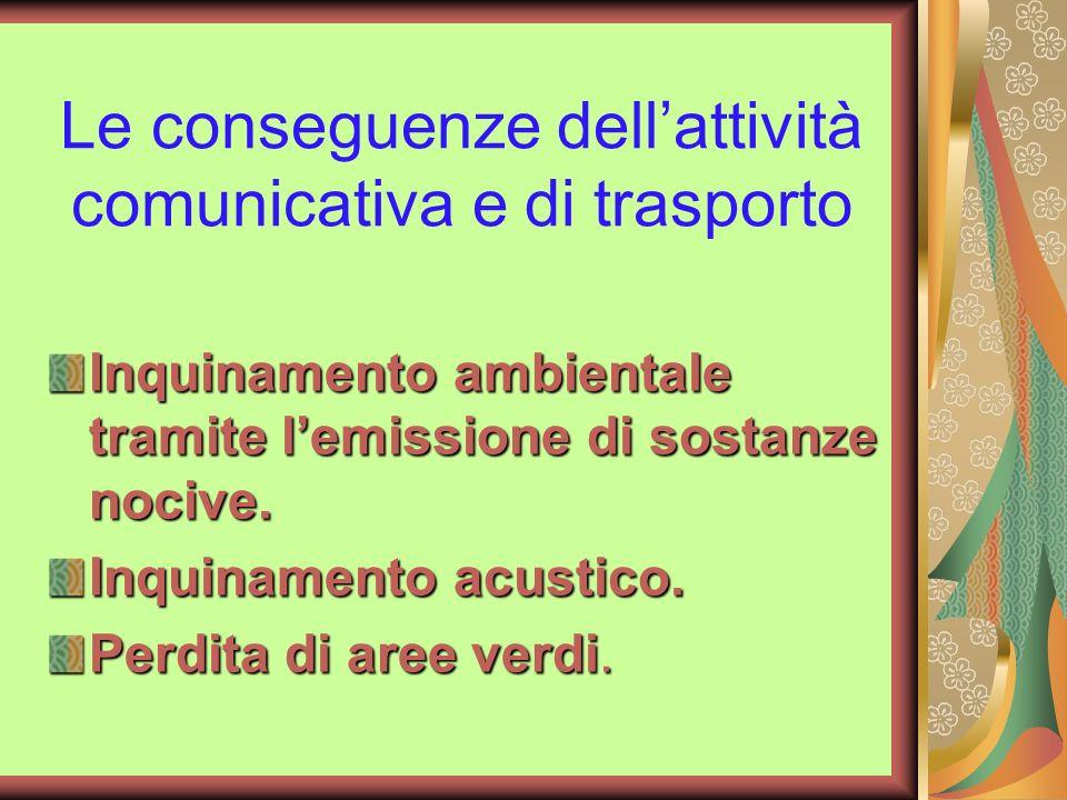 Le conseguenze dell'attività comunicativa e di trasporto