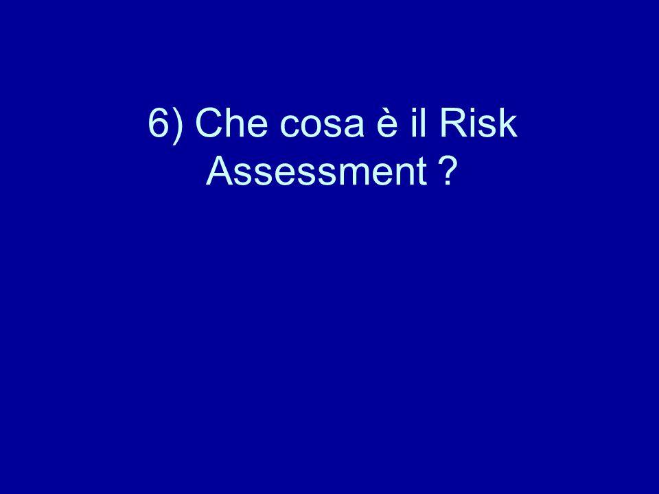 6) Che cosa è il Risk Assessment