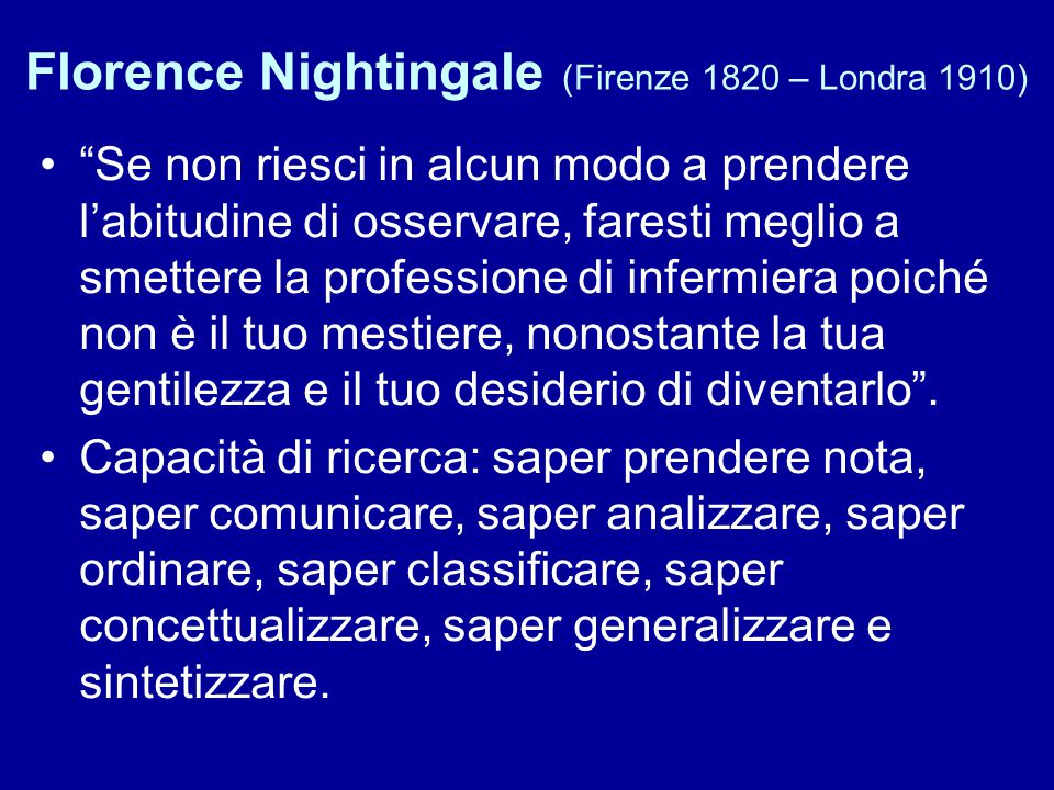 Florence Nightingale (Firenze 1820 – Londra 1910)