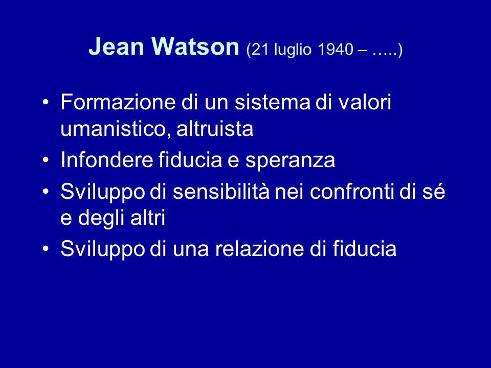 Jean Watson (21 luglio 1940 – …..)