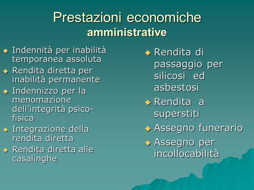 Prestazioni economiche amministrative