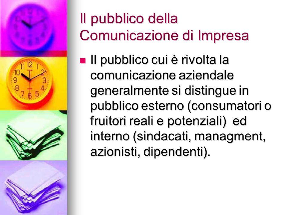 Il pubblico della Comunicazione di Impresa