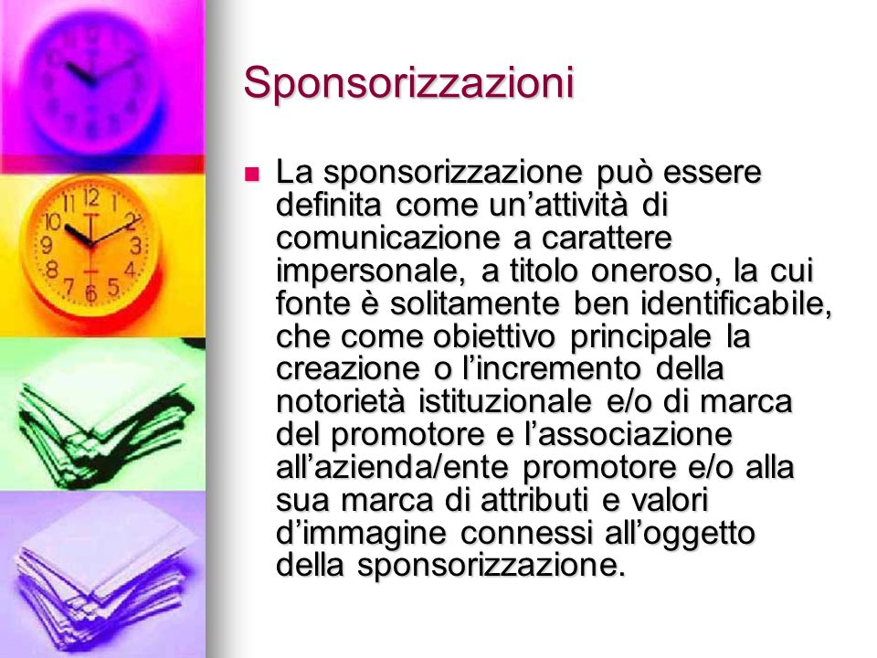 Sponsorizzazioni