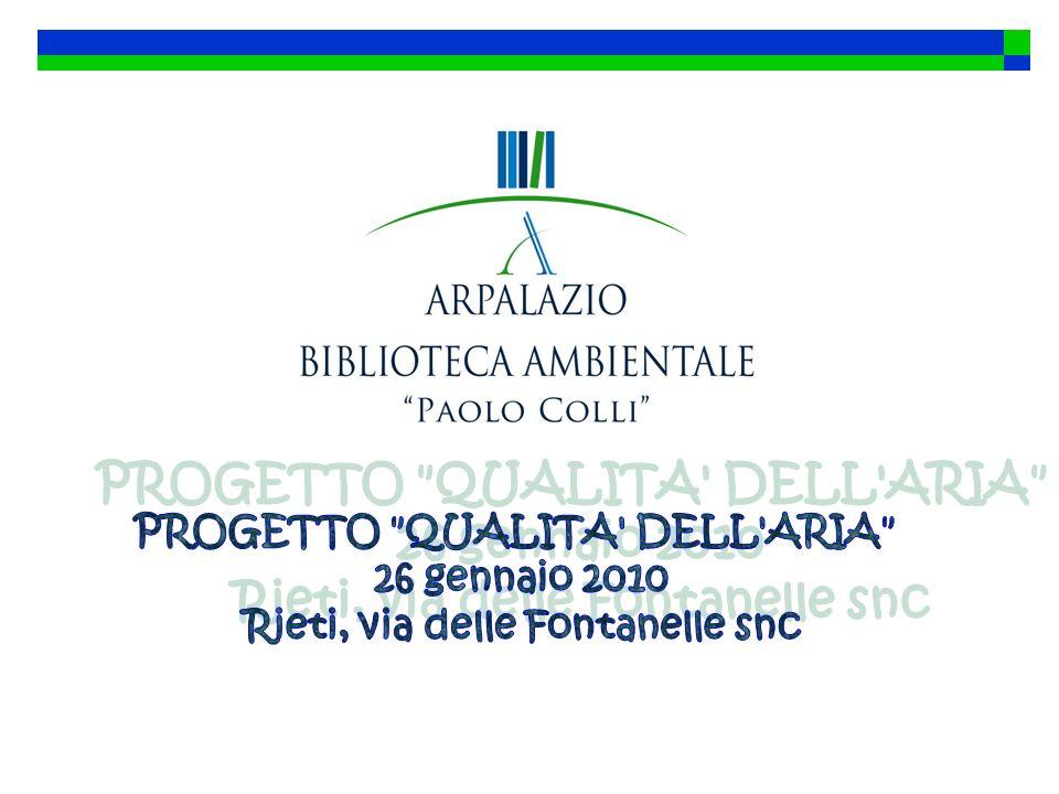 PROGETTO QUALITA DELL ARIA Rieti, via delle Fontanelle snc