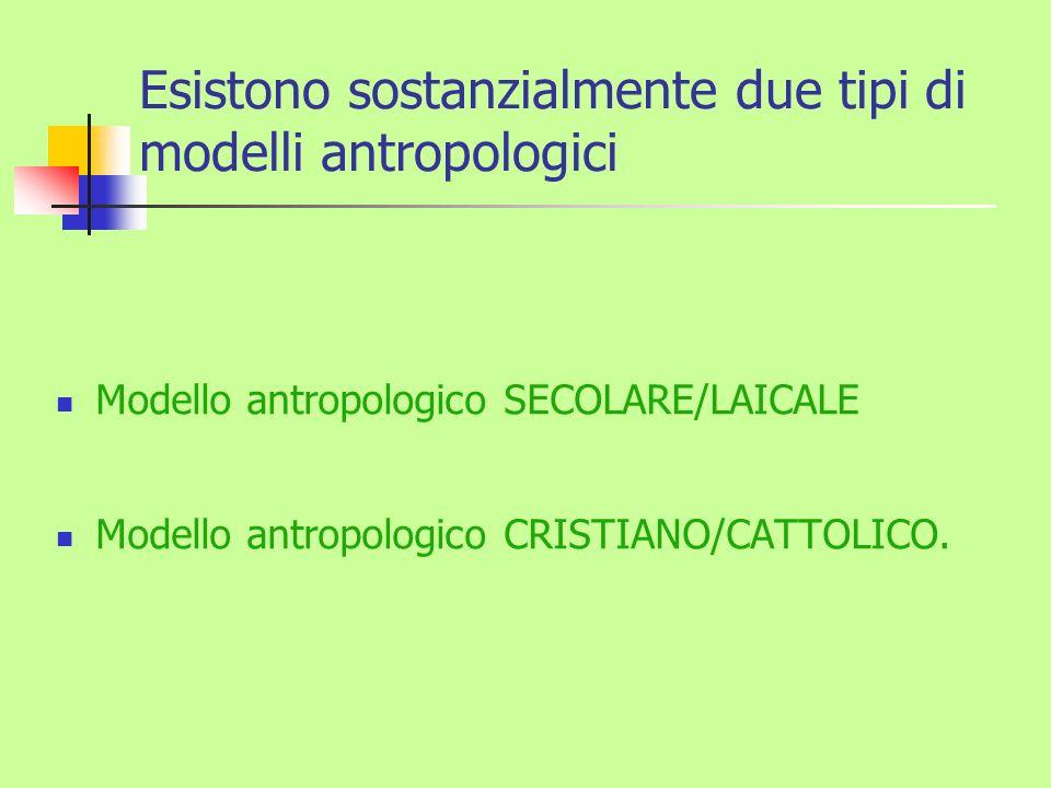 Esistono sostanzialmente due tipi di modelli antropologici