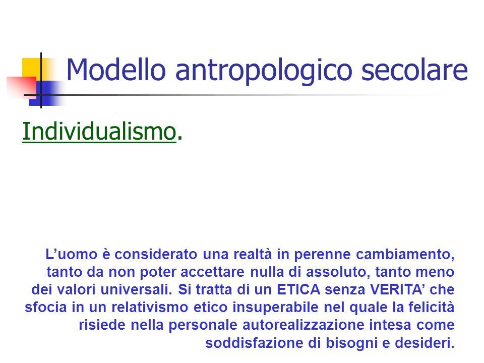 Modello antropologico secolare