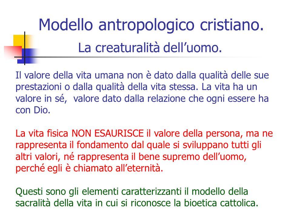 Modello antropologico cristiano.