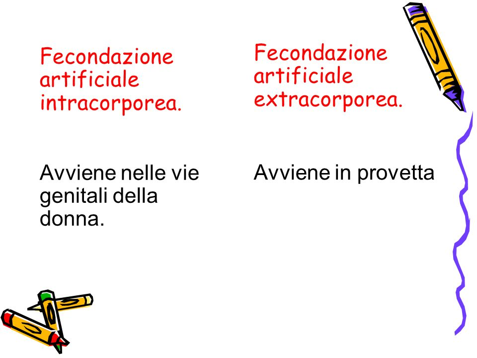 Fecondazione artificiale extracorporea.