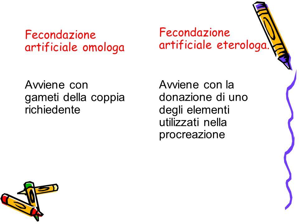 Fecondazione artificiale eterologa.