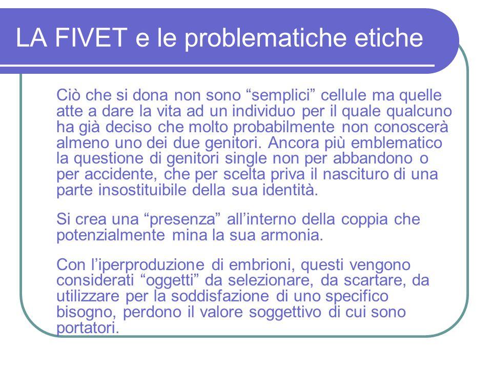 LA FIVET e le problematiche etiche