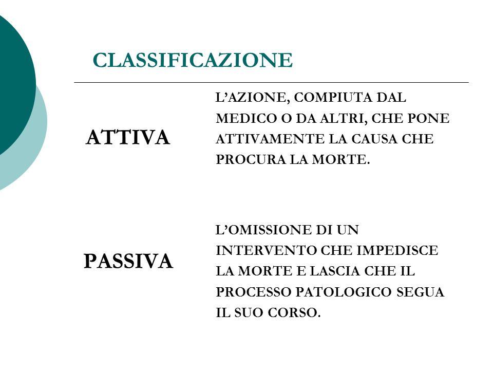ATTIVA PASSIVA CLASSIFICAZIONE