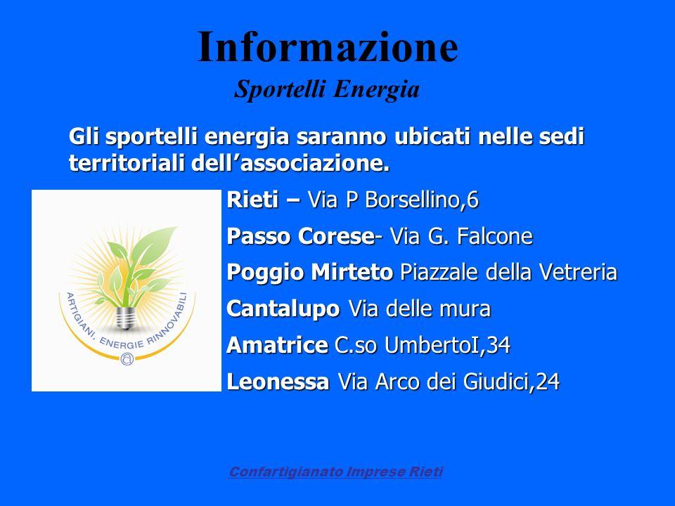 Informazione Sportelli Energia