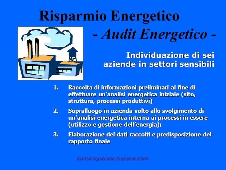 Risparmio Energetico - Audit Energetico -