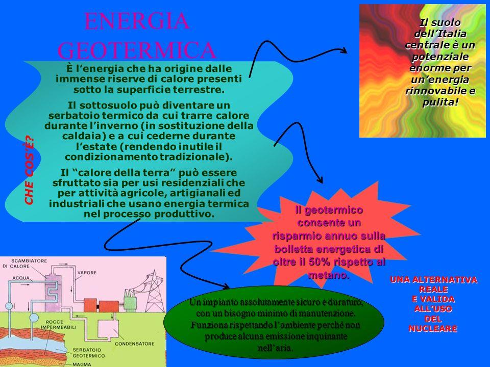 ENERGIA GEOTERMICA CHE COS'È Il geotermico