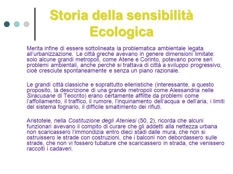 Storia della sensibilità Ecologica