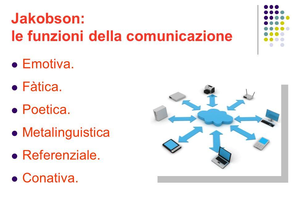 Jakobson: le funzioni della comunicazione