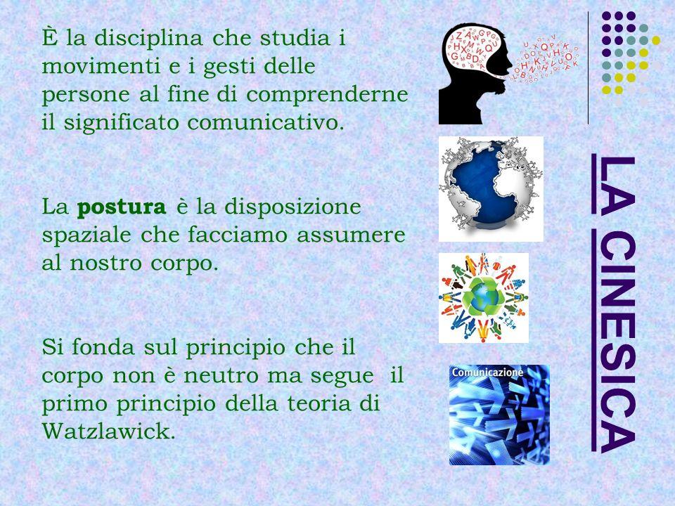 È la disciplina che studia i movimenti e i gesti delle persone al fine di comprenderne il significato comunicativo.