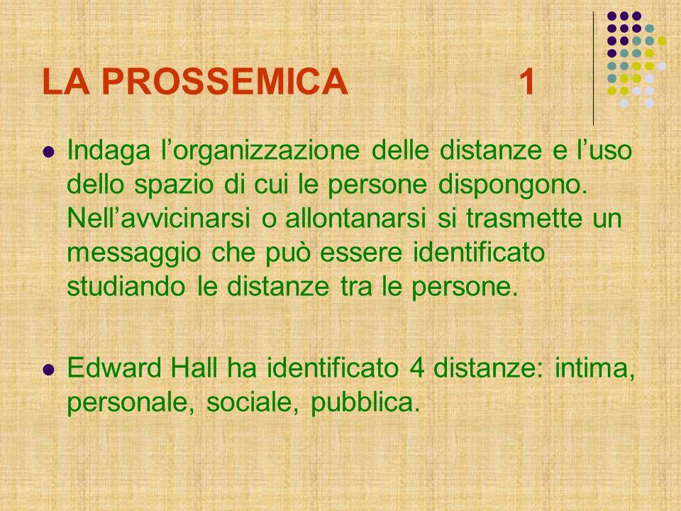 LA PROSSEMICA 1