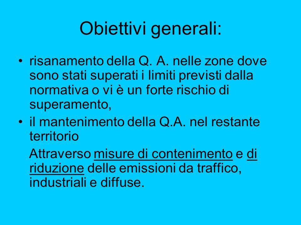 Obiettivi generali: