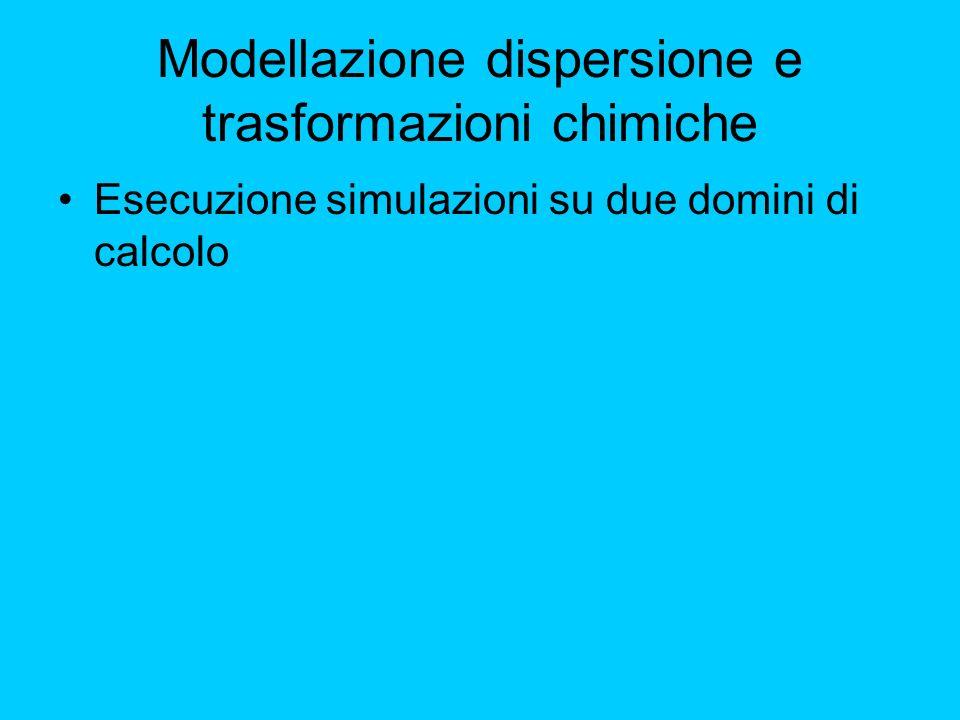 Modellazione dispersione e trasformazioni chimiche