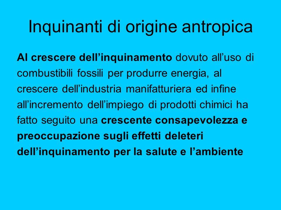 Inquinanti di origine antropica