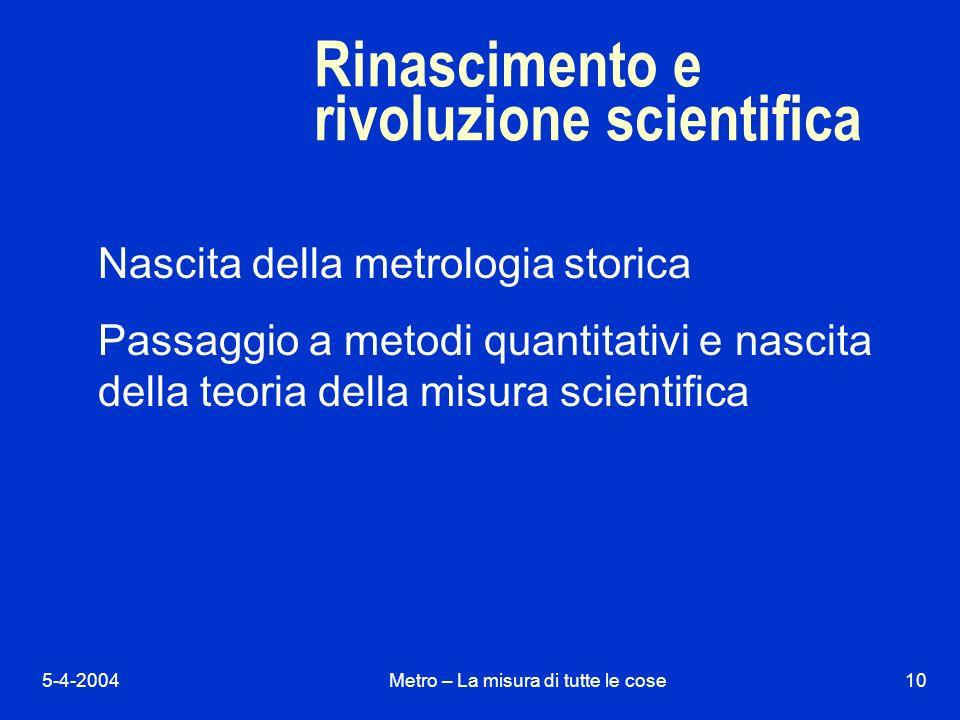 Rinascimento e rivoluzione scientifica
