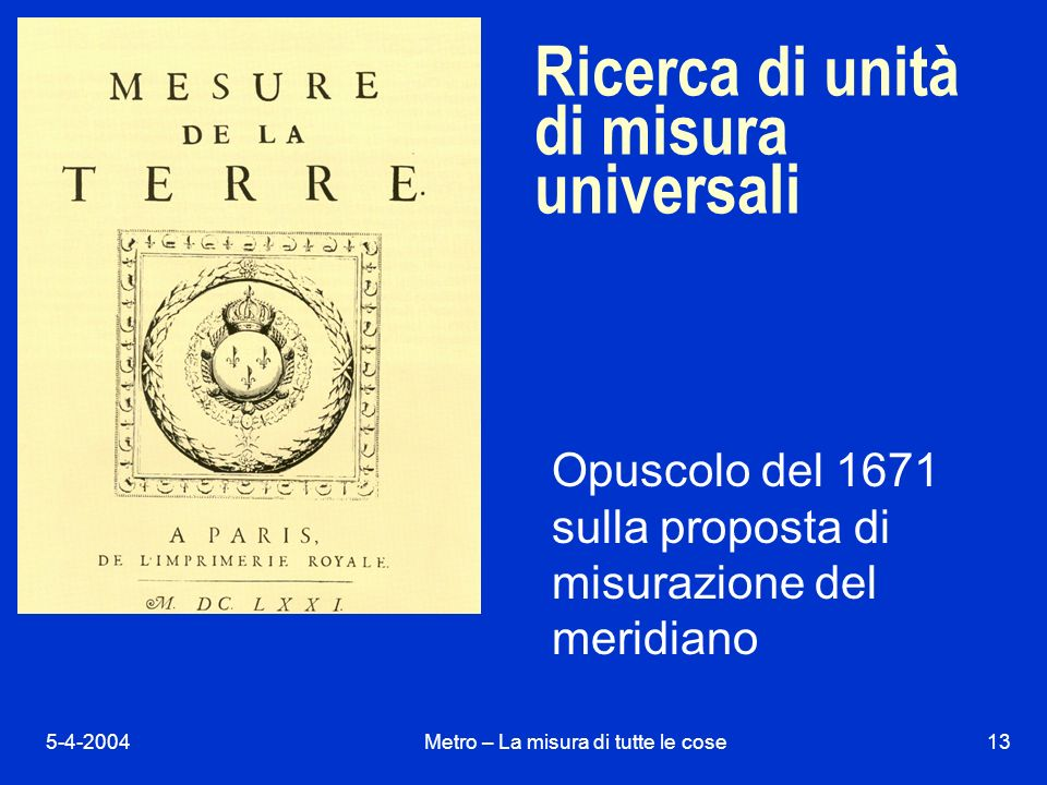 Ricerca di unità di misura universali