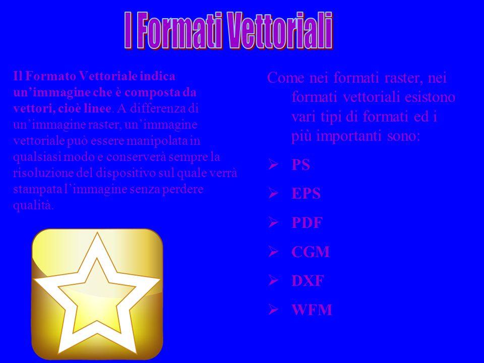 I Formati Vettoriali