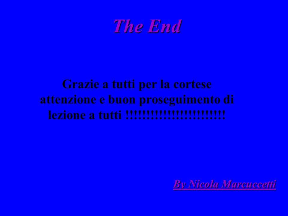 The End Grazie a tutti per la cortese attenzione e buon proseguimento di lezione a tutti !!!!!!!!!!!!!!!!!!!!!!!!