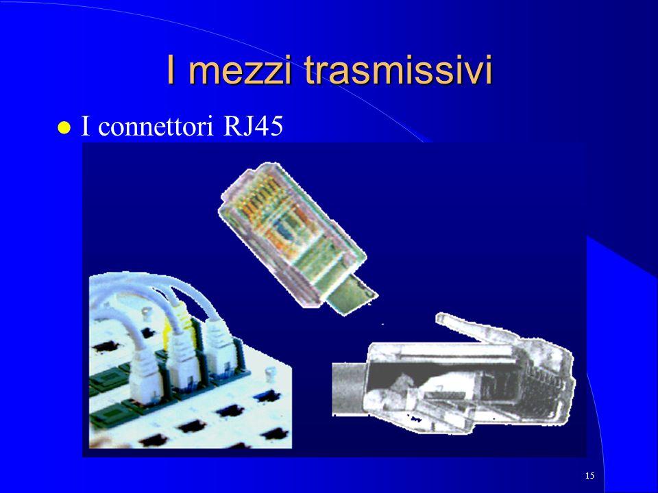I mezzi trasmissivi I connettori RJ45