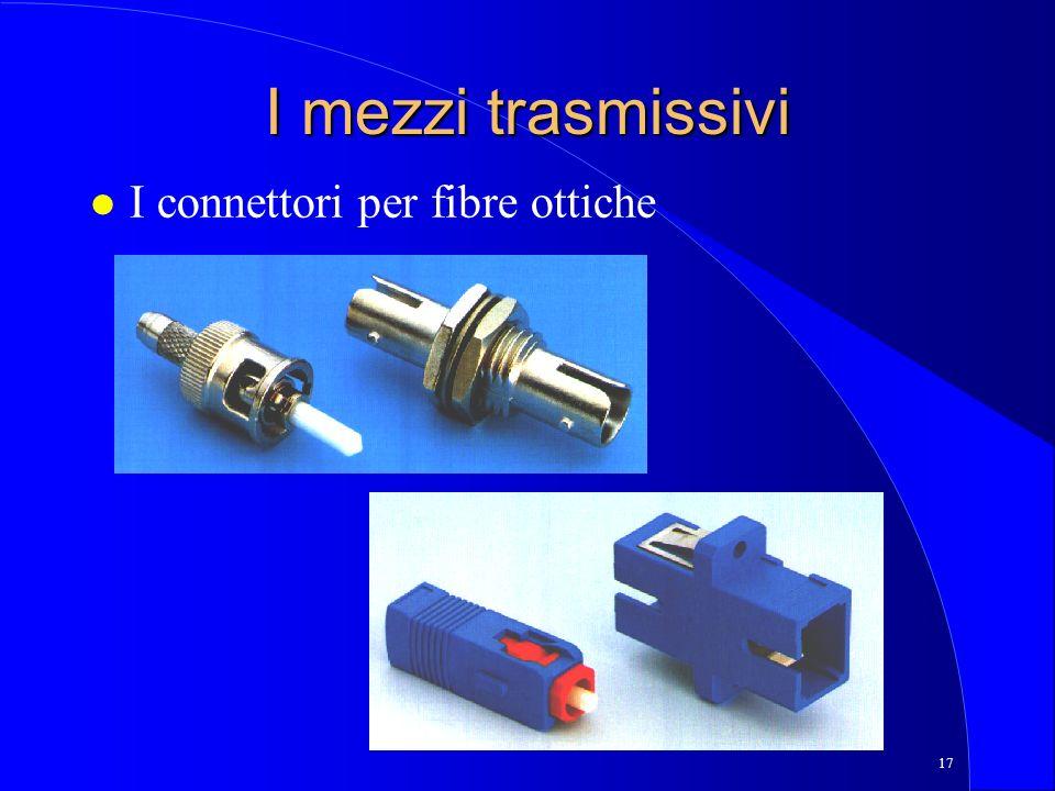 I mezzi trasmissivi I connettori per fibre ottiche