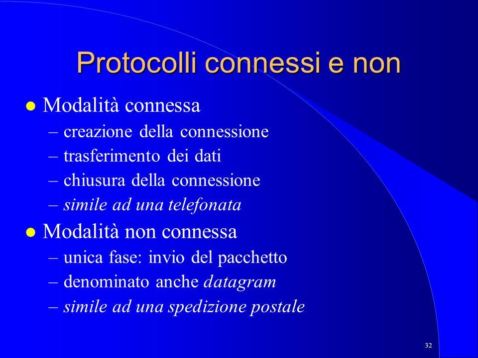Protocolli connessi e non