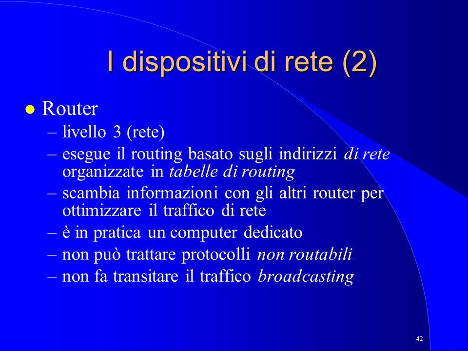 I dispositivi di rete (2)