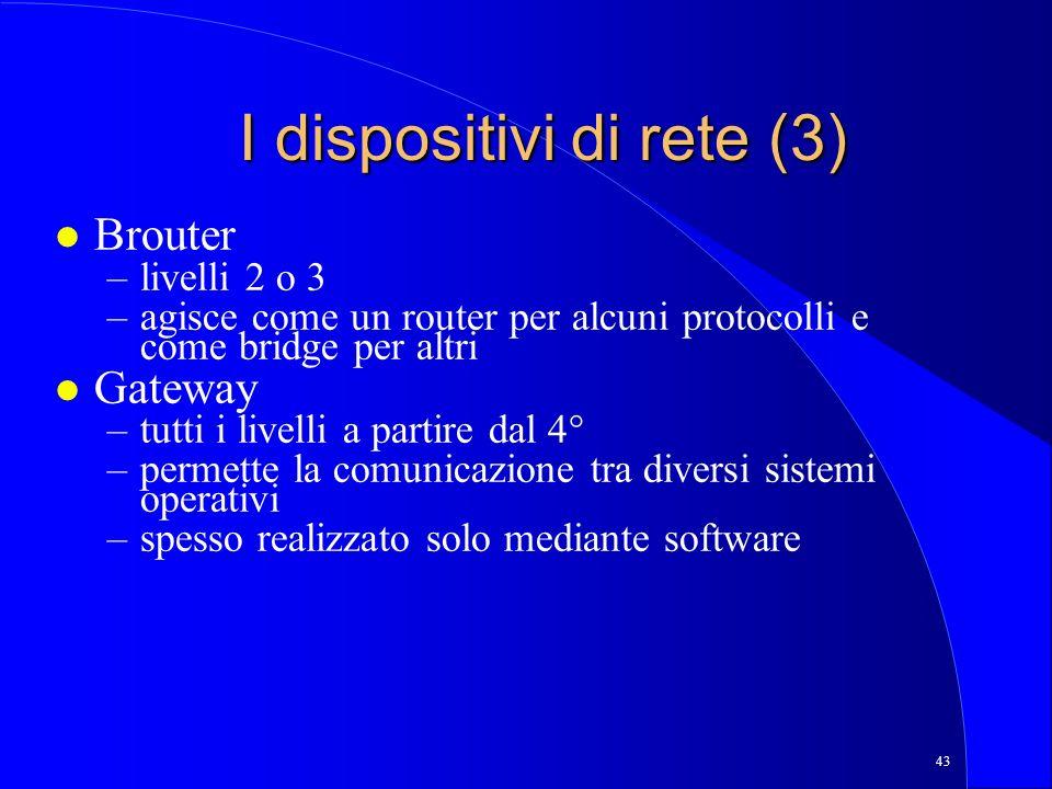 I dispositivi di rete (3)